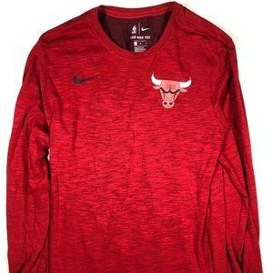 Nike Chicago Bulls NBA Red Dri-Fit Long-Sleeve